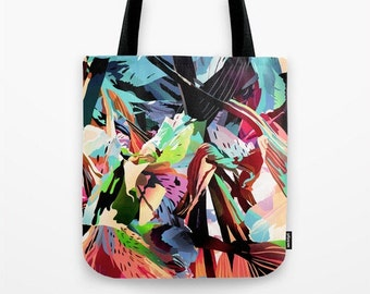 canvas tote bag, art tote, canvas lunch tote bag, graphic tote bag