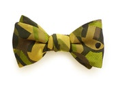 GREEN ART DECO silk bow tie