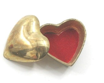Brass Heart Trinket Box