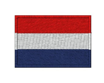 Netherlands Dutch Flag embroidery design in 3 sizes.