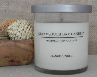 ORANGE GINGER Soy Candle-Citrus Scented Candle-Orange Soy Candle