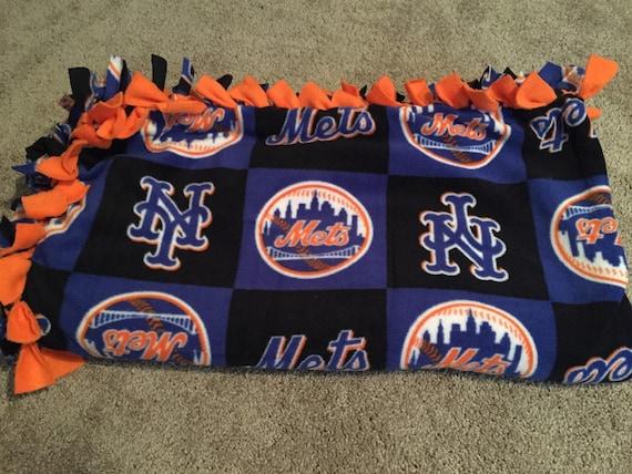 New York Mets No Sew Fleece Tie Blanket Nym By
