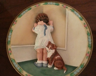In Disgrace by Bessie Pease Gutmann - 1994 Limited Edition Collector Plate