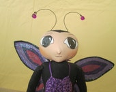 Primitive Folk Art Butterfly Doll
