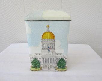 Vintage State Capitol of Georgia Tin.  Georgia Landmark Tin.