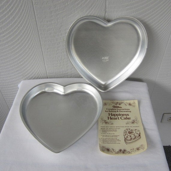 heart cake pans happiness heart set of 2 pans wedding cake pans
