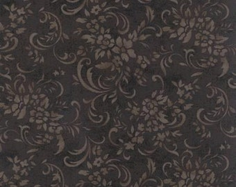 Evening Mist, Floral Schrolls, Onyx by Sentimental Studios for Moda 32994 20