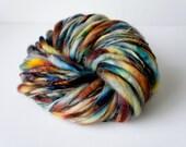 Handspun Yarn, Thick and Thin Yarn, BFL Art Yarn, photo prop yarn, knitting supplies crochet supplies, thick n thin