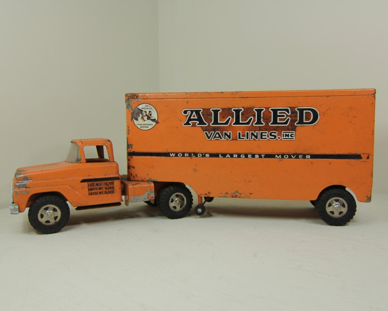 Toy Semi Tractor : Allied van lines tonka truck toy tractor trailer vintage metal