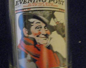 Norman Rockwell Tip of His Hat Saturday Evening Post Collectible Glass CL24-18