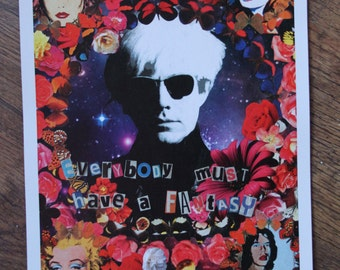 Andy Warhol A3 print: Everyone must have a fantasy.