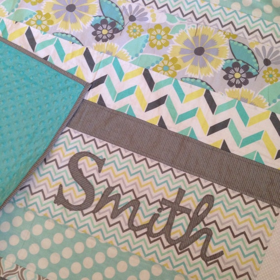 Custom Wedding Quilt / Housewarming Gift Stripe Applique