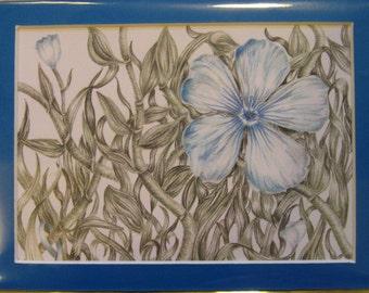 "5x7"" Blue Flower (Prostate Cancer)"