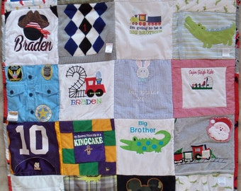 Memory onesie quilt - Baby clothes quilt - Memory blanket - Keepsake quilt - Custom made