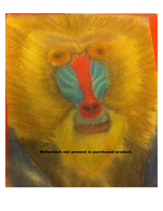 Baboon Painting Print