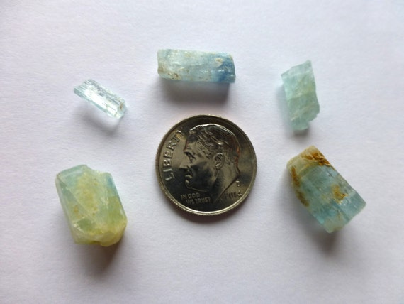 mt antero colorado aquamarine 5pc lot by facetedindustries