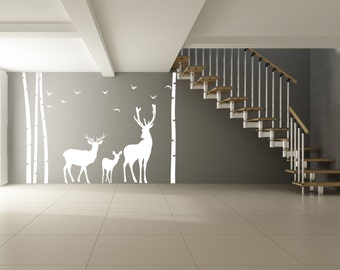 Vinyl Wall Decal Cute Cat Silhouette With Steps Curious - How to make vinyl wall decals with silhouette