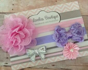 Baby Headband Gift Set..Newborn Headband Gift Set.Baby Headbands..Baby Girl Headband..Infant Headband..Baby Headband..Headband