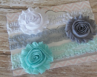3 Baby Headbands..Headband Gift Set.Baby Headbands..Baby Girl Headband..Infant Headband..Baby Headband..Headband..Baby