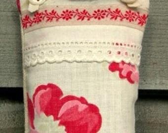 Home decor Lavender Door hanger Shabby Chic   Wardrobe Perfume  Smelling Present Door Sachet Country Chic mini pillow