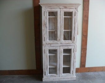 Bookcase made from reclaimed wood USA made and shabbychic style