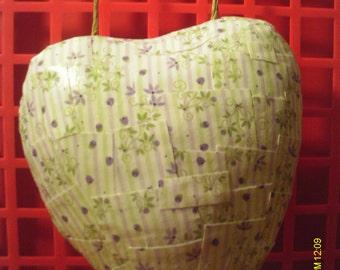 Cute Valentine Heart Paper Mache Wall Hanging #7