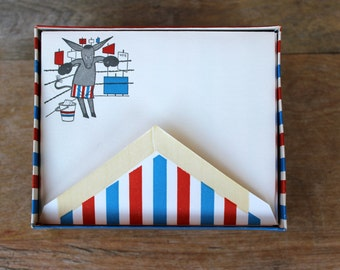Vintage Democratic Party Time Notecards Boxing Donkey