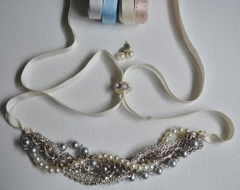 Pearl Necklace with Pearl Earrings