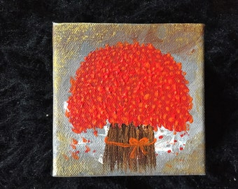 Small Abstract Tree Art Home painting wall Art Acrylic Painting Modern gifts wall decor Art tree Painting Canvas Art mini painting by Sami