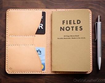 "Field Notes wallet, ""Park Sloper No Pen,"" notebook cover - natural veg leather"