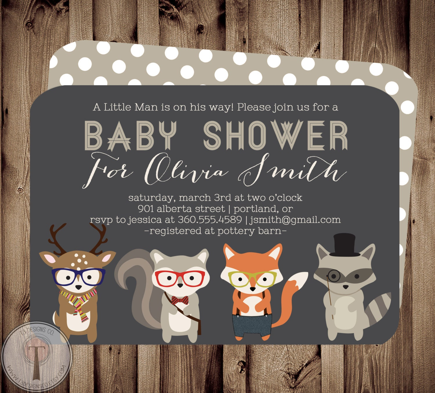 forest friends baby baby shower invitation baby shower