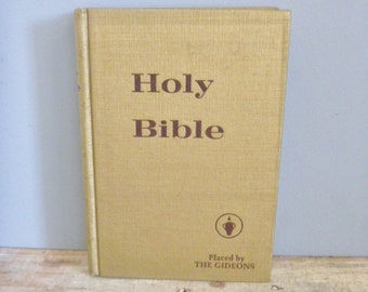 Holy Bible vintage 1974 book golden religious