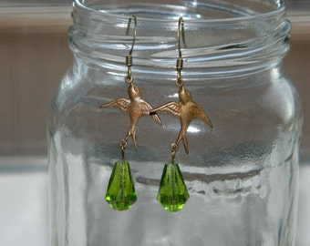 Artisan Handcrafted Beaded Sparrow Earrings