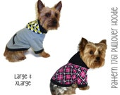 Dog Hoodie Pattern 1761 * Large & XLarge * Dog Clothes Sewing Pattern * Dog Jacket * Dog Sweater * Dog Sweatshirt * Dog Coat Pattern