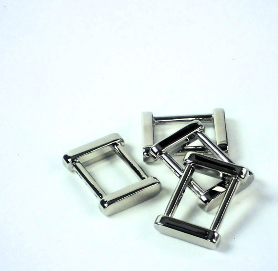 Aluminum Hardware Supplies : Pc silver rectangle quot d rings metal strap