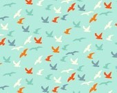 Makower Nautical Seagulls Fabric - 100% Cotton