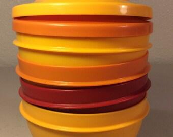Vintage Tupperware Bowls and Lids