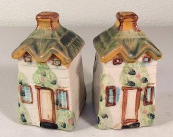 Vintage Cottage Salt and Pepper Shakers Made in Japan