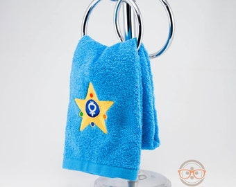 "Sailor Moon ""Sailor Mercury"" Inspired - Embroidered Hand Towel"