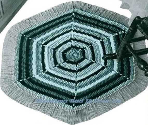 Vintage Crochet Rug Mat Pattern Throw Rug Area Rug