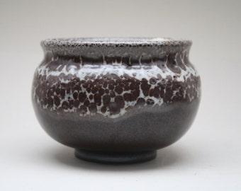 Otto Wichmann dark brown Lava glazed Studio vase