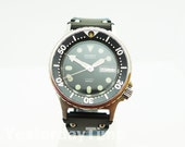 Orient 1980s 469DC660 CA Japanese 21 Jewel Stainless Steel Gents Automatic Scuba Divers Watch