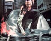 Jeff Hardy Wrestler Fleece Panel Throw Blanket