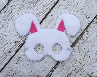 Bunny Mask, Woodland Mask, Children's Felt Rabbit Mask