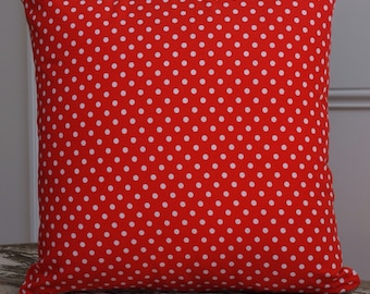 Michael Miller Dumb Dots collection Red and White polkadot cushion cover/pillow 45cm