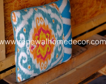 """IN STOCK - Ikat and Chevron accent pillow """" Ikat Chevron Pillow"""" - In Stock and Available"""