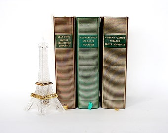 French Literature - French Decor - French Books - Camus - Giono - Herodotus - Thucydides - French Gift - Bibliotheque Pleiade Gallimard