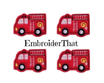 UNCUT Chunky Firetruck felt applique embellishments hair bow center felties (4)
