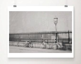 Cambridge photograph bicycle photograph black and white photograph street lamp photograph bicycle print Cambridge print