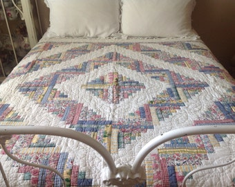 Vintage farmhouse cottage beautifully patterned quilt